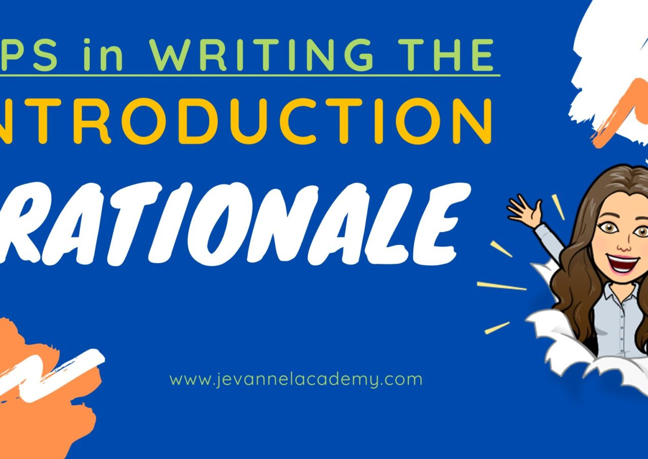 How To Write An Introduction For Your Research Manuscript – THE RATIONALE