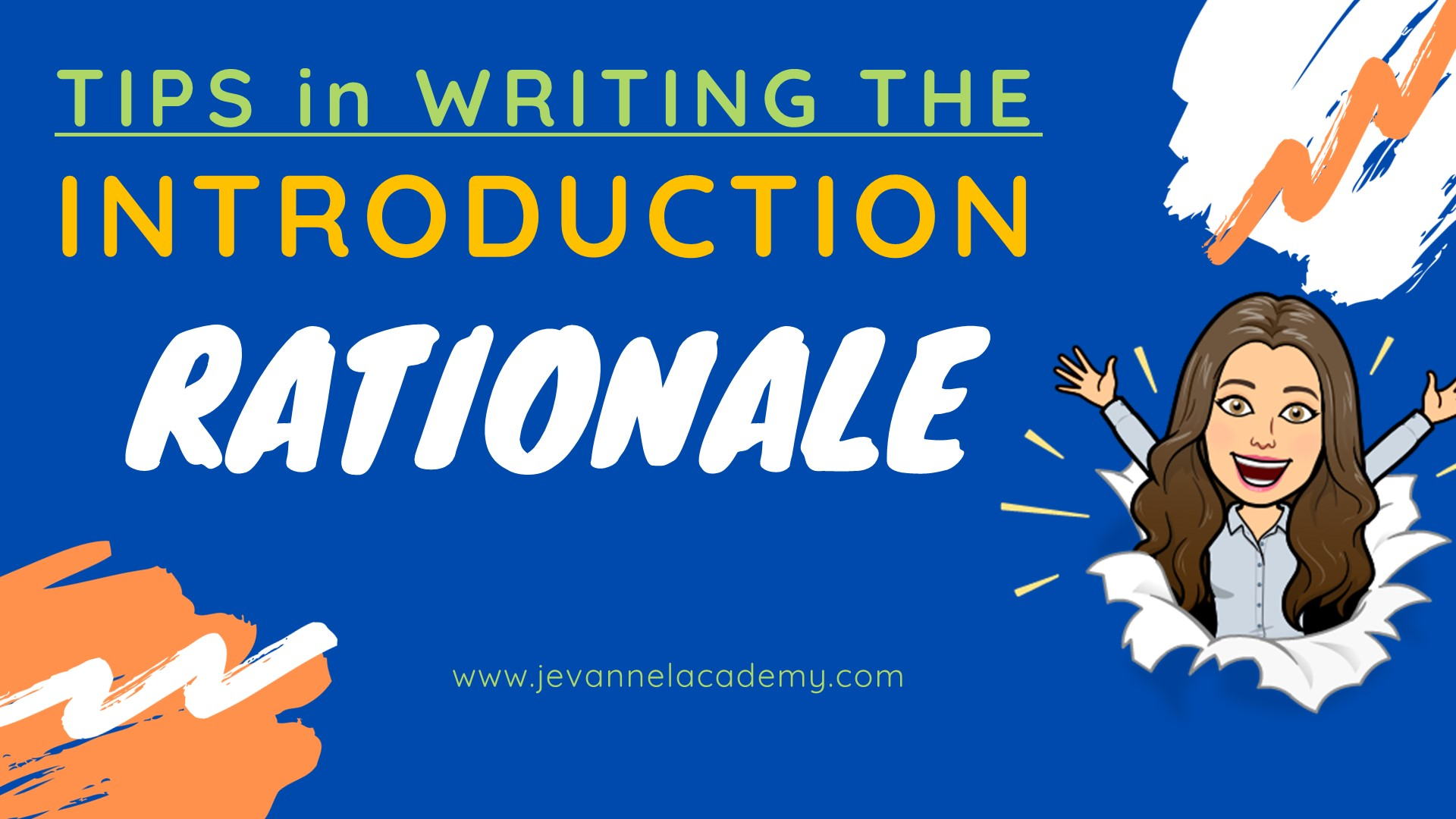 How to Write the Introduction - The Rationale